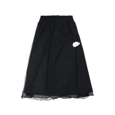 Nike 長裙 Ruffle Skirt 紗裙 女款 NSW 休閒 繡花Logo 街頭穿搭 黑 白 DD4534-010