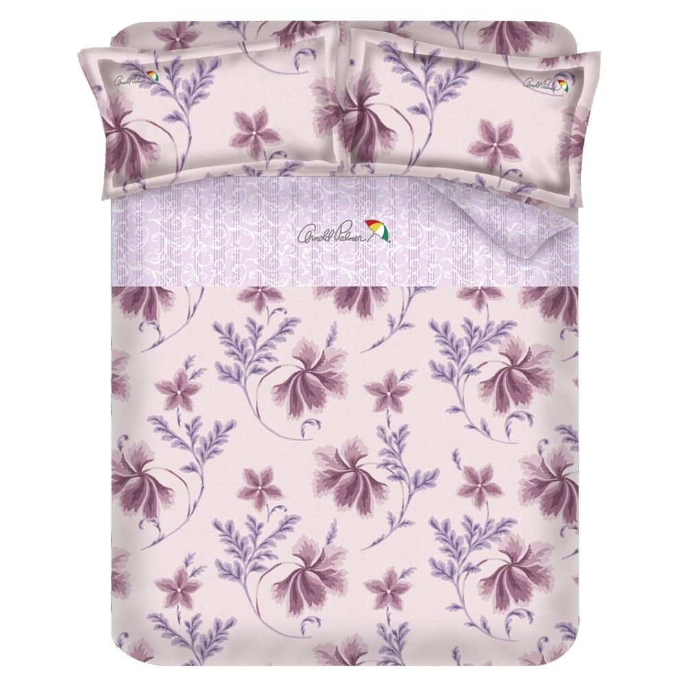 Arnold Palmer雨傘牌 陶醉粉紫-台製60紗精梳棉床包被套雙人加大四件組
