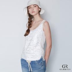GLORY21 立體霧面亮片背心_白