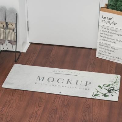 樂嫚妮 廚房防油皮革地墊 玄關 門墊 踏墊-大理石紋-45X120cm