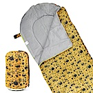 TreeWalker 高級柔軟舒適兒童捲筒睡袋(黃色工程車)