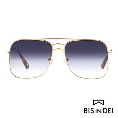 BIS IN DEI 雙槓大方框太陽眼鏡-紫