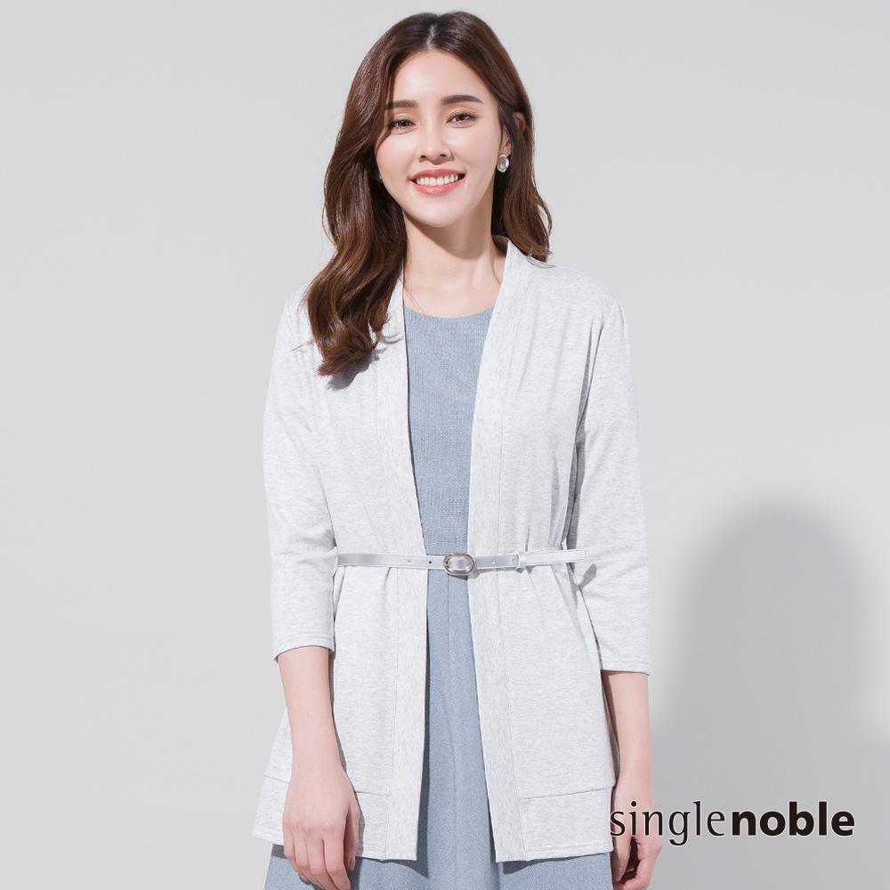 獨身貴族 知性都會純色長版開襟罩衫(2色)