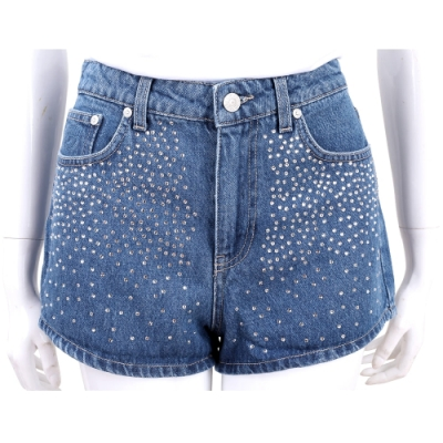Chiara Ferragni 星空鑽飾藍色丹寧牛仔短褲