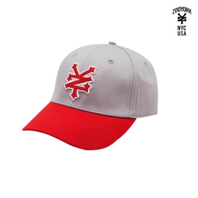 ZOO YORK-撞色棒球帽-紅