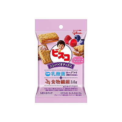 Glico格力高 水果優格夾心餅乾-藍莓&覆盆子風味(45.4g) @ Y!購物