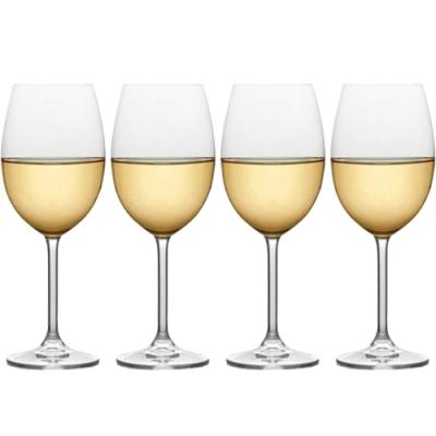 《CreativeTops》水晶玻璃白酒杯4入(488ml)