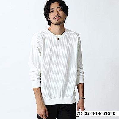 鬆餅織運動衫基本素色(3色) ZIP日本男裝