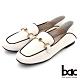 【bac】兩穿式黑邊勾勒線條樂福鞋-白色 product thumbnail 1