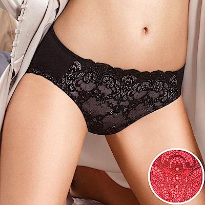 黛安芬-逆齡Bra纖體蕾絲系列M-EL中腰內褲(華麗紅)