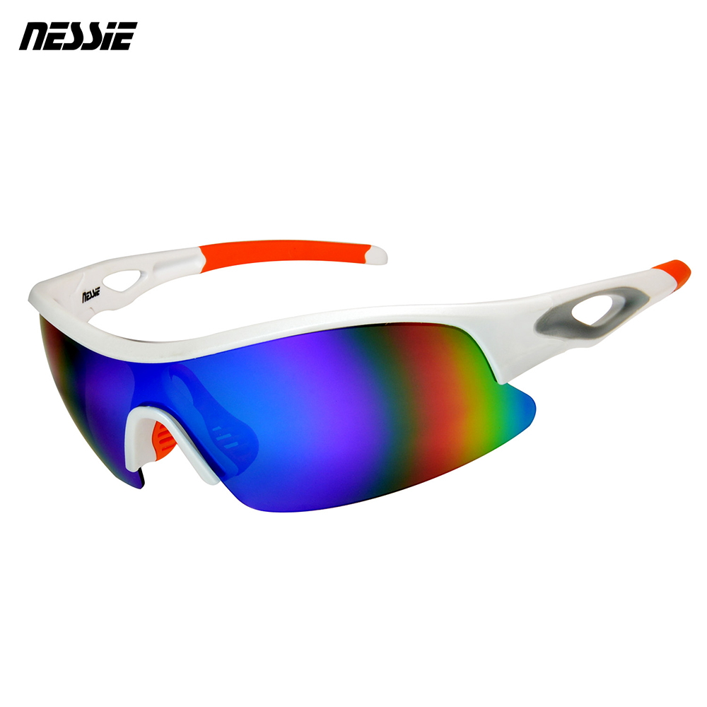 Nessie尼斯眼鏡 專業運動偏光太陽眼鏡-競速白