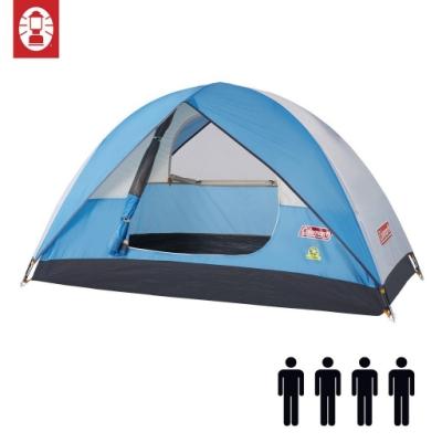 【美國 Coleman】Sundome Tent Cyan 日光浴4人帳篷 天藍色