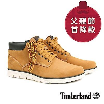 Timberland 男款小麥黃絨面皮革休閒鞋