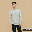 H:CONNECT 韓國品牌 男裝 - 質感印字圓領上衣 - 灰