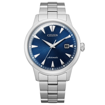 CITIZEN星辰 Mechanical 限量質感現代機械錶(NK0008-85L)-銀x藍/41mm