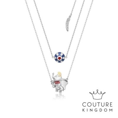 Disney Jewellery by Couture Kingdom小飛象雙層鍍白金項鍊