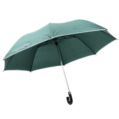 樂嫚妮 超大自動開折四人用彎把雨傘/分享傘/145cm傘面-綠