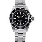 SQUALE 鯊魚錶 1545潛水機械錶-黑x銀/40mm