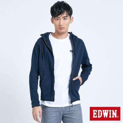 EDWIN EFS短版連帽運動外套-男-丈青
