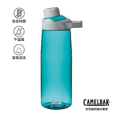 【美國 CamelBak】750ml Chute Mag 戶外運動水瓶 玻璃藍