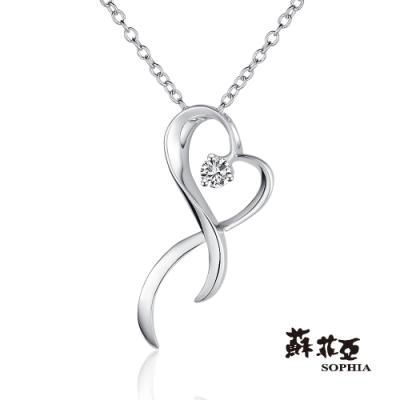 蘇菲亞SOPHIA - 依偎0.06克拉鑽石項鍊