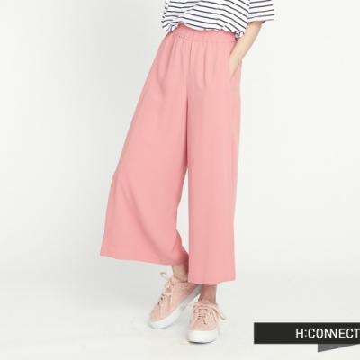 H:CONNECT 韓國品牌 女裝 - 側開衩純色寬褲 - 粉(快)