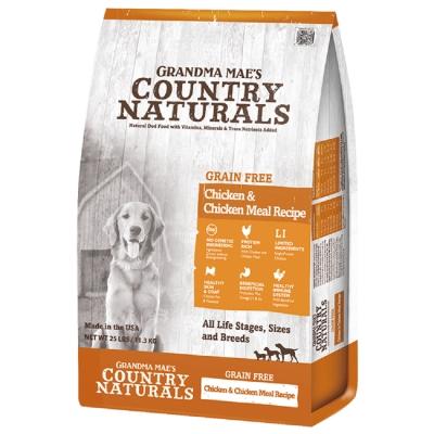 美國GRANDMA MAE S梅亞奶奶鄉村天然寵糧-全齡犬L.I.D.低敏無穀鮮嫩雞 300g (三包組)