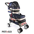 PETnGO 雙層子母寵物推車-牛仔