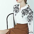 氣質肩刺繡襯衫 TATA