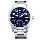 ORIENT東方SP飛行運動時尚手錶FUNG2001D-藍X銀/42mm