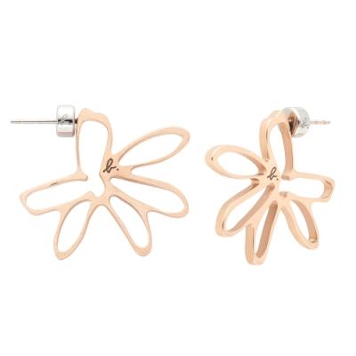 agnes b.Secret Garden 耳環(玫瑰金)
