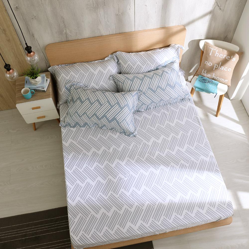 鴻宇 雙人特大床包枕套組 天絲300織 米克諾斯 台灣製