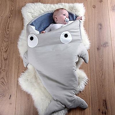 【嬰幼兒標準版-卡其灰藍】BabyBites西班牙鯊魚咬一口睡袋