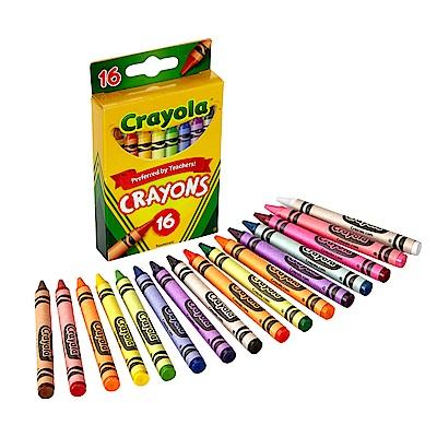 美國Crayola 繪兒樂 彩色蠟筆16色(3Y+)