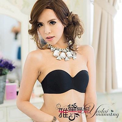 隱形胸罩 頂級一片式無痕無黏性美背側翼款(附二用美背帶)(黑色) 雅黛曼妮