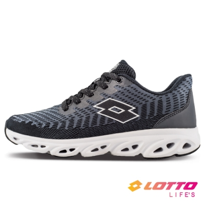 LOTTO 義大利 女 SONIC 風動跑鞋(黑)