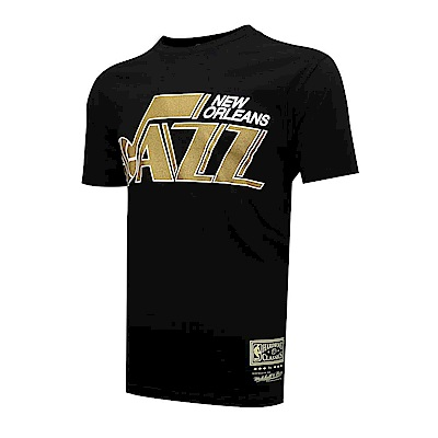 M&N NBA燙金隊徽T恤 爵士隊