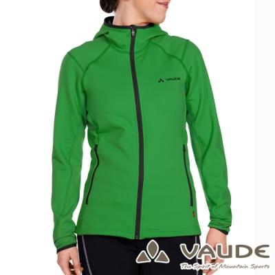 【德國 VAUDE】女款抗風內層刷毛保暖連帽彈性休閒外套VA-05703果綠