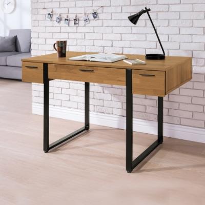 Boden-羅格4尺工業風三抽收納書桌/工作桌