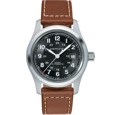 (無卡分期6期)HAMILTON Khaki 軍用機械錶(H70555533)