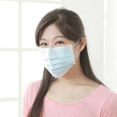 順易利 三層平面成人醫用口罩(9.5x17.5cm)50片/盒-藍