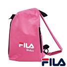 FILA 三角立體單肩包-桃粉色