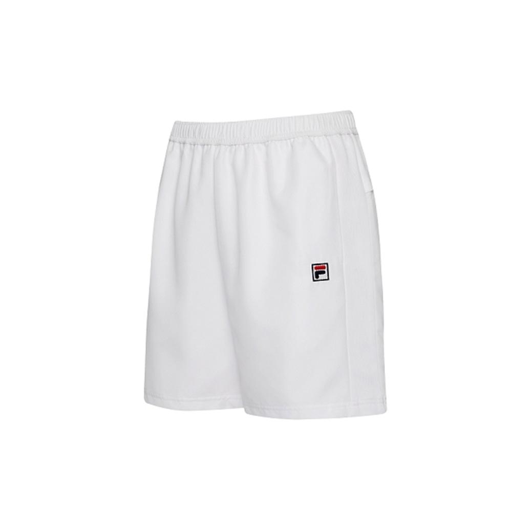 FILA 男抗UV平織短褲-白色 1SHV-5003-WT