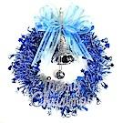摩達客 10吋藍色歡樂金蔥浪漫雪紗花圈 YS-SMTW10004