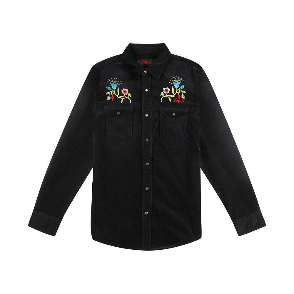 Deus Ex Machina 燈芯絨刺繡襯衫