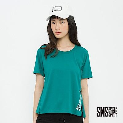 SNS 動力主義簡約字母設計開衩上衣(3色)