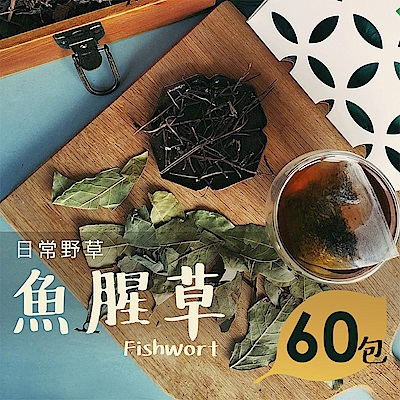 日常野草 靜心明朗 魚腥草青草茶(5gX60包)(10包/盒,共6盒)