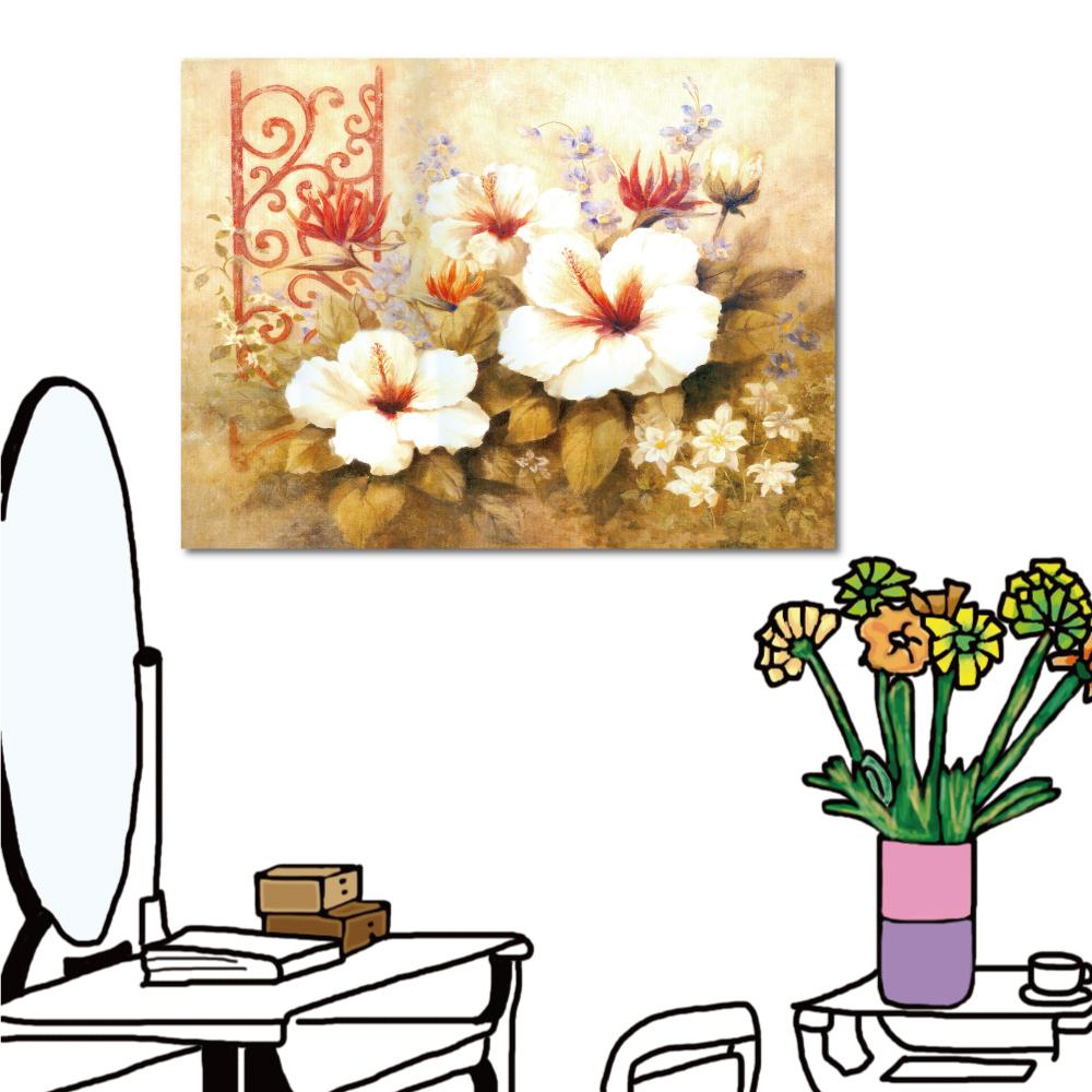 24mama掛畫 單聯式橫幅 藝術無框畫-花朵40x30cm