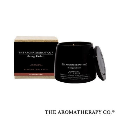 The Aromatherapy Co. 紐西蘭天然香氛 Therapy Kitchen系列 柑橘蘿勒 Mandarin Mint & Basil 260g 香氛蠟燭