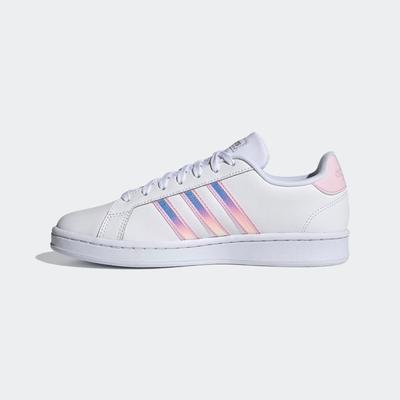 ADIDAS GRAND COURT女休閒鞋-白粉-FY8925